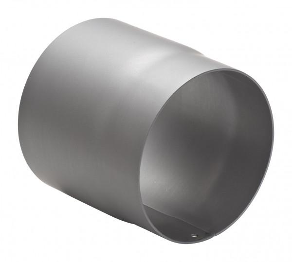 Rauchrohr Stahl 150 mm hellgrau