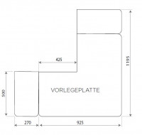 Vorlegeplatte ESG Klarglas Nordpeis Kaminbausatz Havanna - SM804656