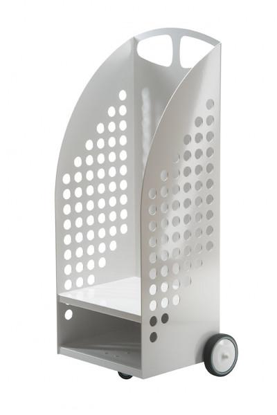 Kaminholzwagen Stahl, weiß