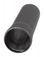 Pellet-Ofenrohr Stahl 250 mm schwarz - SM19-110