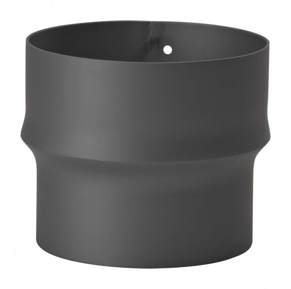 Erweiterung Rauchrohr Stahl schwarz, eng-weit