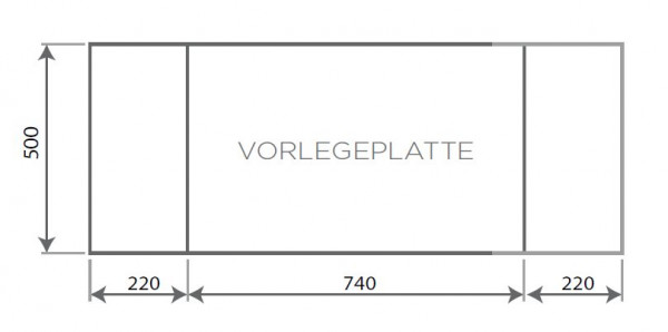 Vorlegeplatte ESG Klarglas Nordpeis Speicherofen Salzburg L
