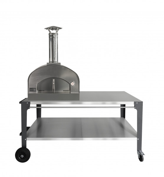 Pizzaofen Edelstahl mit Arbeitstisch MATTEO M TT Feuercampus365