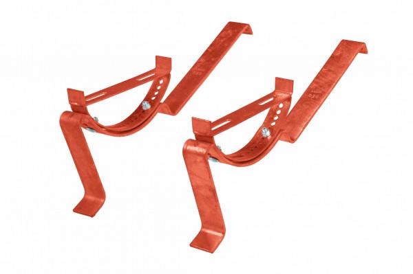 Laufroststütze, inkl. Befestigungsmaterial, Stahl, kupferbraun beschichtet