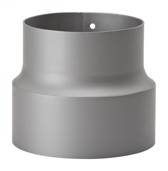 Reduzierung Rauchrohr Stahl hellgrau, weit-eng