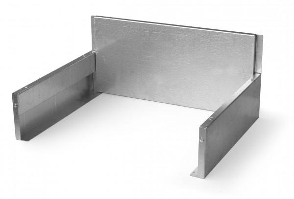 Feuerschutz Grillkamin Alustahl isoliert, 57 x 44 x 25,5 cm
