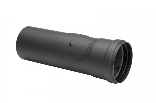 Pellet-Ofenrohr Stahl 250 mm schwarz mit Prüföffnung