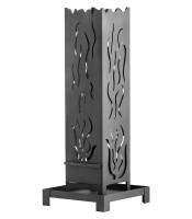 Feuersäule Stahl Heibi, 98 x 25 x 25 cm - SM51231