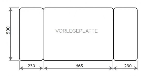 Vorlegeplatte ESG Klarglas Nordpeis Kaminbausatz Stockholm