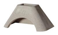 Betonhaube Grillkamin grau, 84 x 47 x 41 cm - SM15350-1