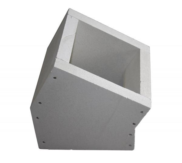F90 Schacht Bogenelement 45° aus Kalziumsilikat-Platten - eka L90 Compact