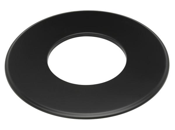 Wandrosette Rauchrohr Stahl Randbreite 90 mm schwarz