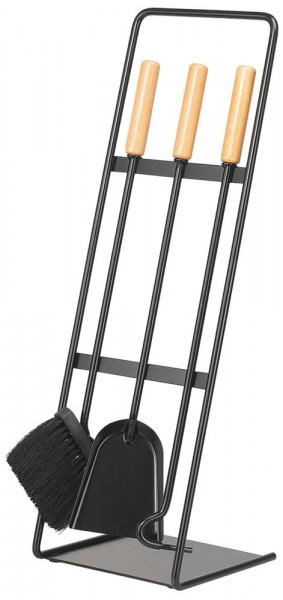 Kaminbesteck YOYO-1 aus Stahl, 3- teilig, schwarz