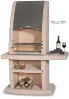 Grillkamin Wellfire INCA Terracotta mit Edelstahlhaube - SM21060