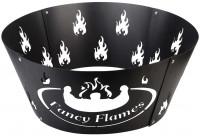Feuerkorb mit Muster, Stahlblech, schwarz - SMFF116