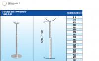 Stützfuß verstellbar 600-1000 mm Edelstahl einwandig - eka complex E - SM2400080SP