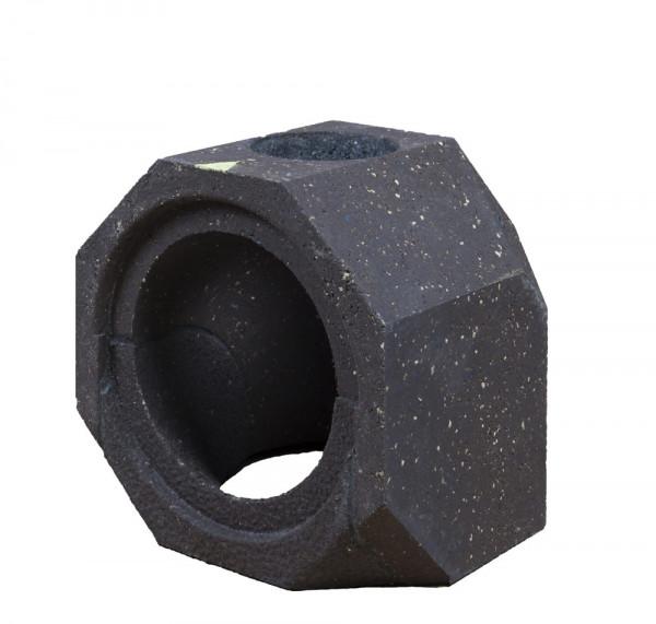 Keramik Modul Speicher 300 Bogen 90° Bohrung oben 300 x 300 x 300 mm, Ø 180