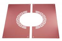Blende zweiteilig mit Luftschlitzen, verkupfert - SM3250080BLH-SONDER