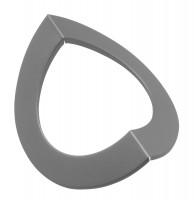 Eck-Wandrosette Stahl Außen-Eck Ø 150 mm hellgrau - SM15-647
