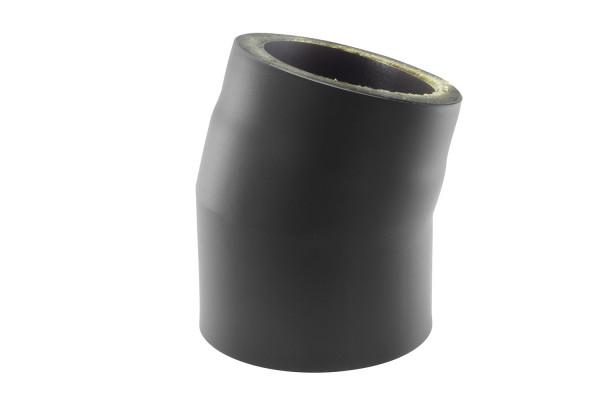 Rauchrohrbogen Stahl 15° doppelwandig Ø 150 mm schwarz