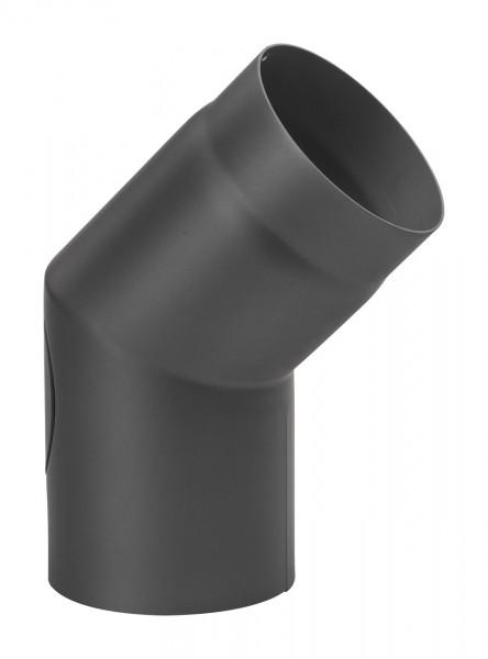 Rauchrohrbogen Stahl 45° schwarz