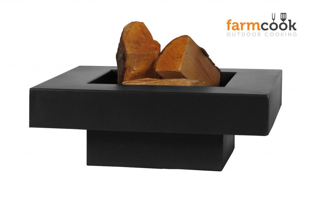 FARMCOOK  Feuerschale Pan-5 Terrassenfeuer schwarz lackiert 3 Größen