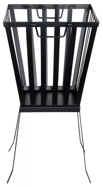Feuerkorb, 32 x 31 x 58 cm, Stahl schwarz