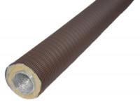 Aluflexrohr isoliert 0,8 m 5-lagig, braun - SMafrevfliso50br