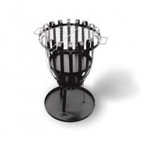 Feuerkorb PALERMO mit Grillrost aus Flachstahl, schwarz - SM14600