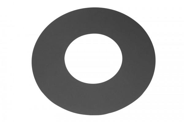 Deckenrosette Rauchrohr Stahl Randbreite 90 mm Ø 150 mm schwarz, flach