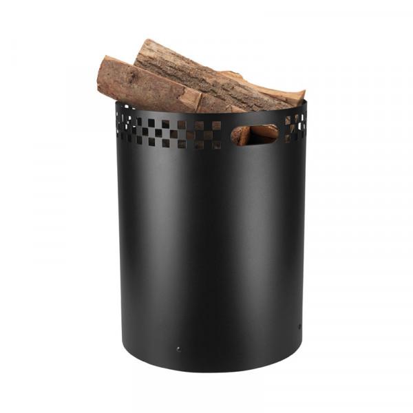 Holzkorb SQUARE aus Eisen
