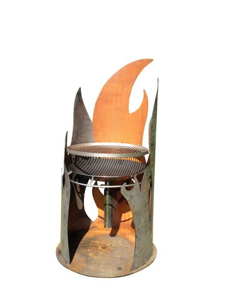 Nielsen Feuersäule FLAME aus Cortenstahl