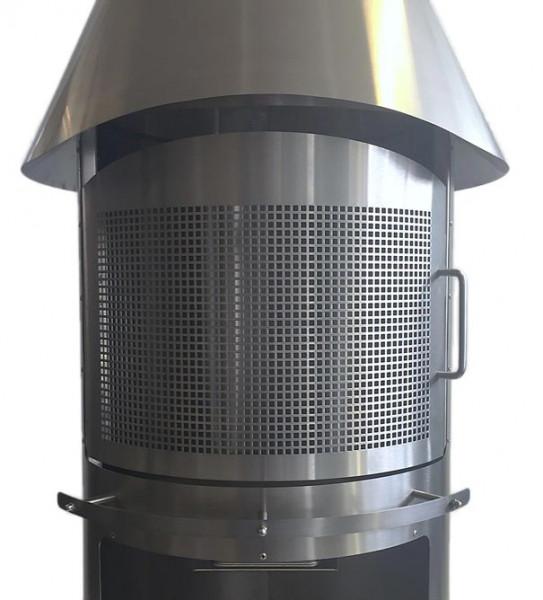 Funkenschutztür Grillkamin Firestar CLASSIC 800, Edelstahl