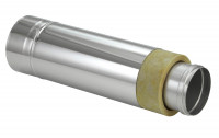 Schornsteinrohr Edelstahl 1080 mm doppelwandig kürzbar Wandfutter - eka complex D 25 - SM2250113L10ETWF