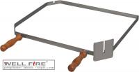 Grillspießhalter diagonal aus Edelstahl mit Holzgriffen - SMN210301
