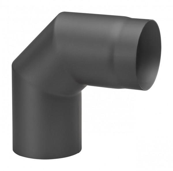 Rauchrohrbogen Stahl 2x 45° schwarz