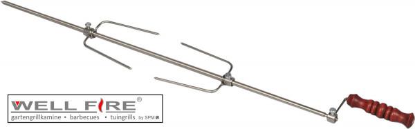 Grillspieß 65 cm für diagonale Halterung