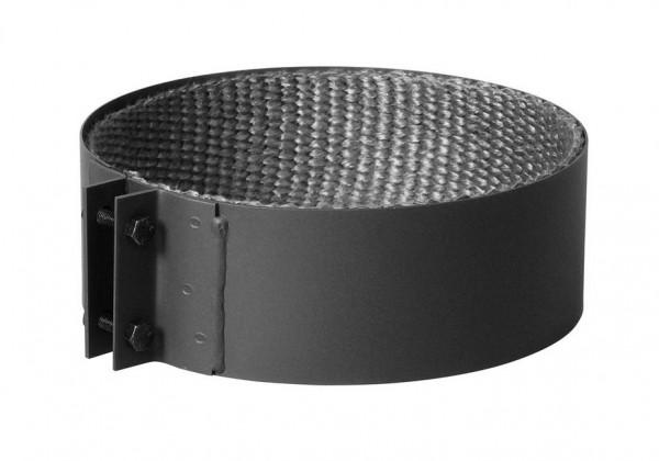 Halteschelle für Rauchrohr Stahl doppelwandig Ø 150 mm schwarz