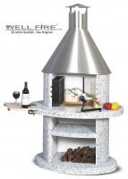 Grillkamin Wellfire DUNA mit Edelstahlhaube - SM21125