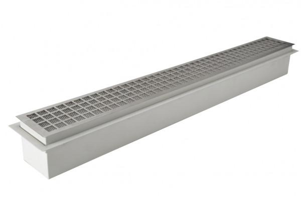 Design Luftleiste 55 cm mit Einbaurahmen weiß