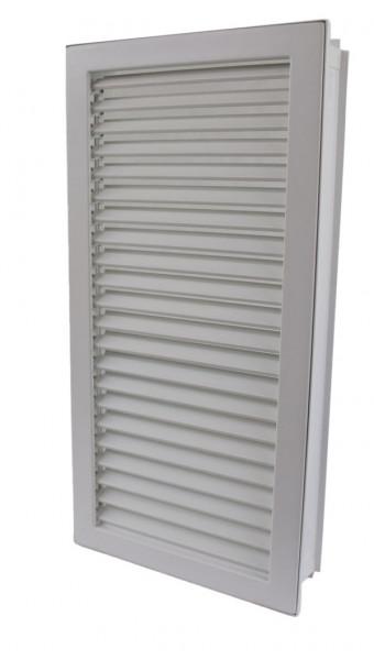 Warmluftgitter hochkant weiß