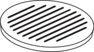 Ofenrost Gusseisen, Ø 26 cm