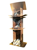Nielsen Feuersäule LIGHT TOWER COMBI aus Cortenstahl - SM200-10805N
