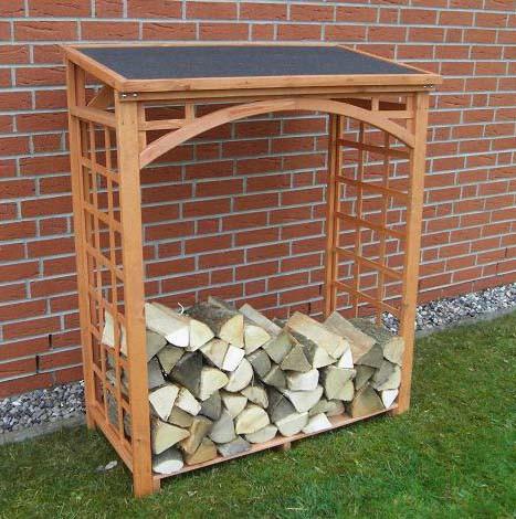 Promadino Brennholzregal ROMA, 147,5 x 119,5 x 66 cm