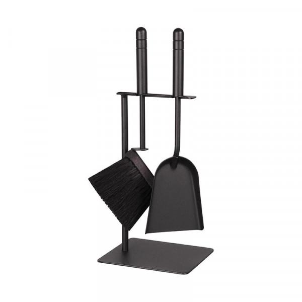 Kaminbesteck Stahl klein schwarz CAMINO 2, 2-teilig