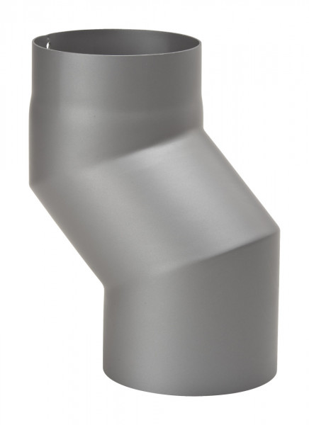 Rauchrohr Stahl Versatzbogen 80 mm Ø 150 mm hellgrau