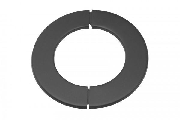 Wandrosette Rauchrohr Stahl zweiteilig Randbreite 52 mm Ø 150 mm schwarz