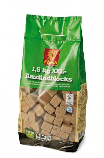 Kaminanzünder Holz Wachs, 1,5 kg Sack