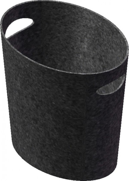 Holzkorb aus Filz oval Lienbacher, schwarz