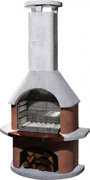 Gartenkamin Buschbeck SAN REMO weiß-terracotta